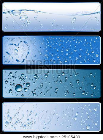 conjunto de quatro diferentes água frescas-texturas