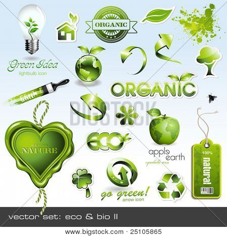 Vector iconos: eco & bio II