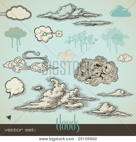 Vector Set: Wolken