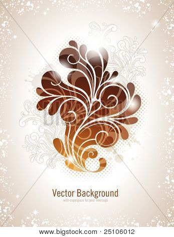 elegante swirly Vektor Hintergrund in warmen Farben