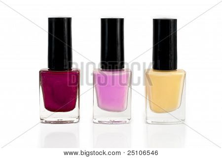 Nail Polish Bottles In Three
