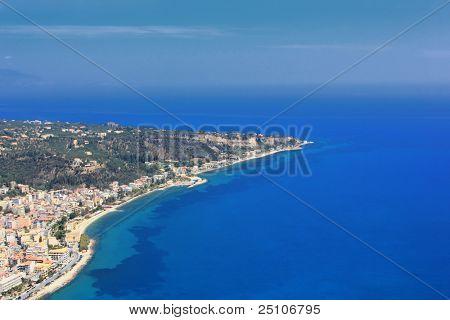 Luftbild auf Zakynthos Griechenland