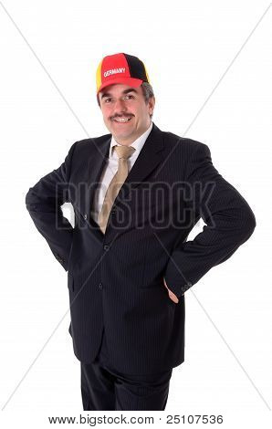 Portrait Of A Happy Smiling Business Man With A Baseball Cap