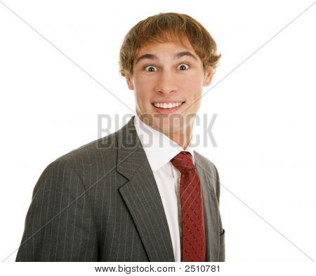 Young Businessman Surprised