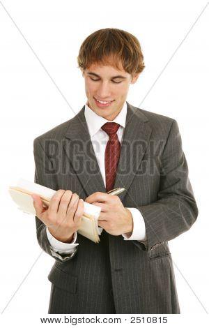 young Businessman guten Bericht