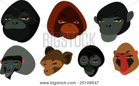 Affen vector set