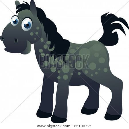 vector horse: farm series