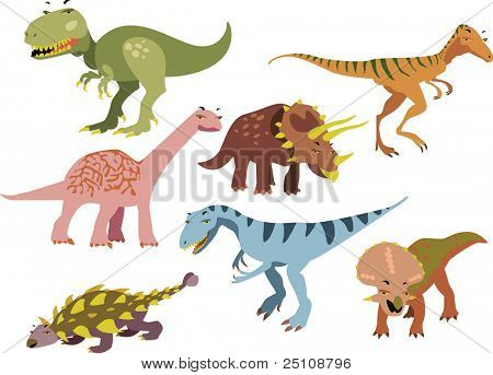 Vector dinosaurios set 1