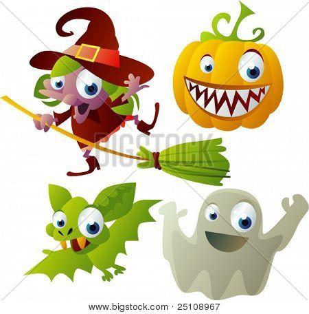 vector halloween set 2