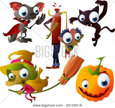 Halloween Vector set 5