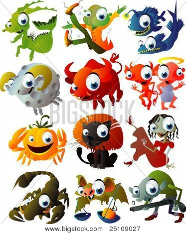 vector halloween horoscope