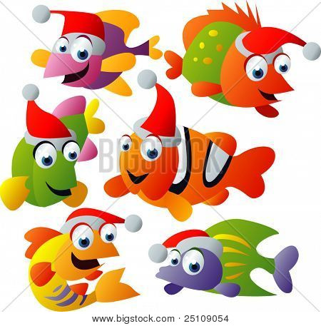 vector christmas fish