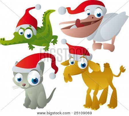 Vector animales de Navidad
