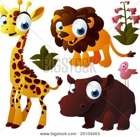 vector animal set 150: african animals