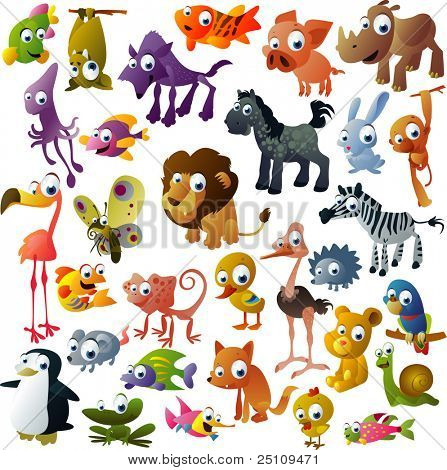 extra big vector animal set