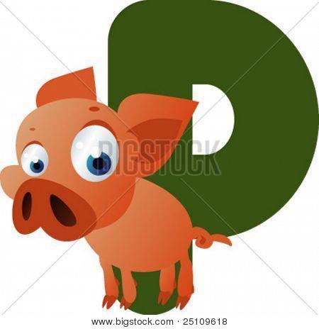 Nuevos ABC animales: P es para el cochinillo