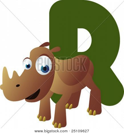 Newest ABC animals: R is for Rhino