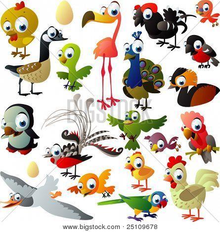 extra große Gruppe von Vögeln