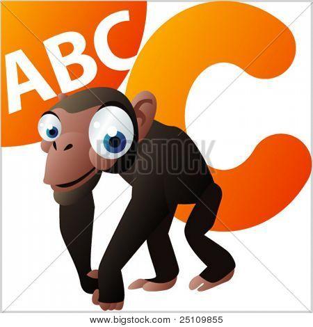 ABC animals: C is for Chimpanzee