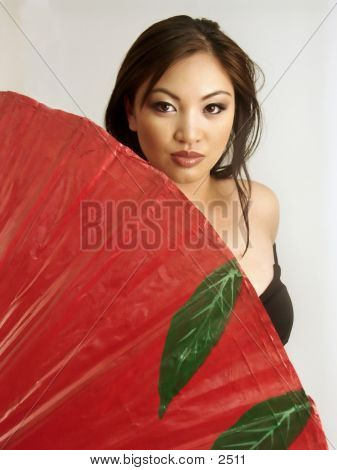 Khristine Red Umbrella 2