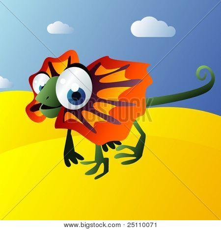 vector frill lizard