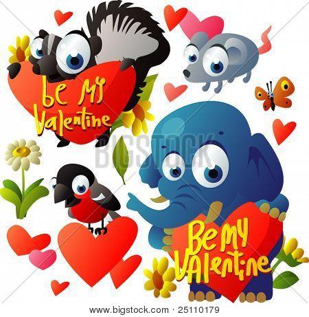vector valentine day set