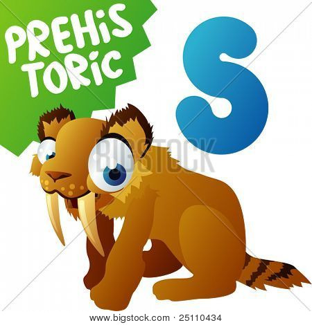 Prehistoric Animals: S is for Sabre-tooth Cat