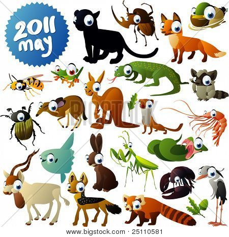 Big vector set of animals