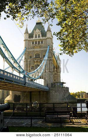 London scene, The Tower Bridge over River Thames.