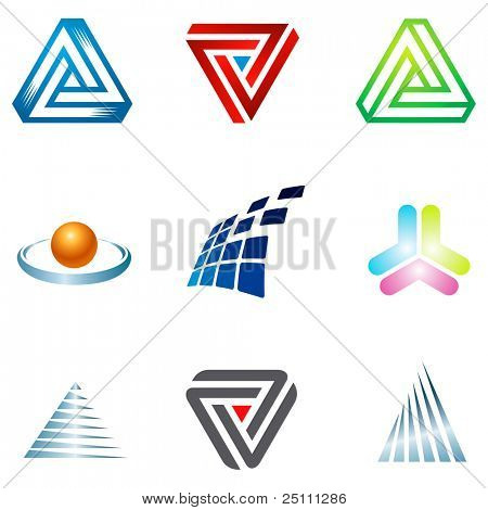 Various colorful corporate icons for your  designs.