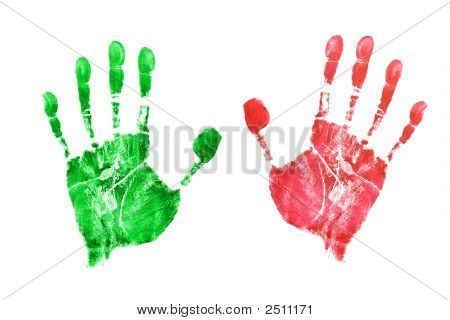 Prints Of Hands