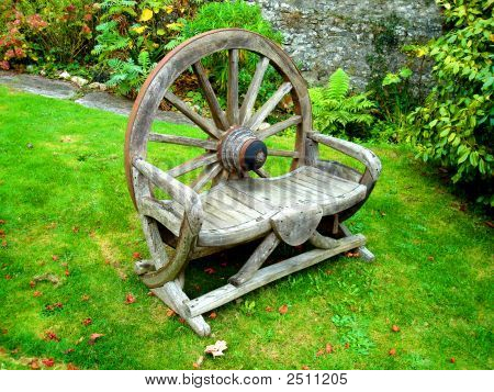 Old Wheel - Bench