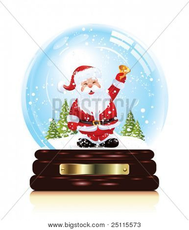 Snow globe with santa claus