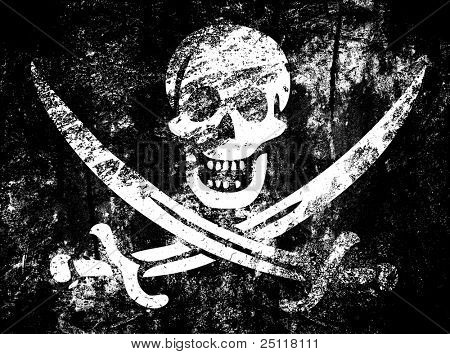 Vintage pirate flag
