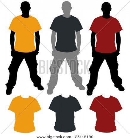 Vektor-T-Shirt-Vorlage