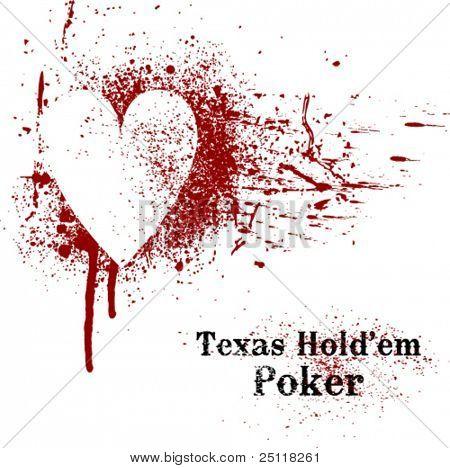 Texas Hold'em Poker grunge
