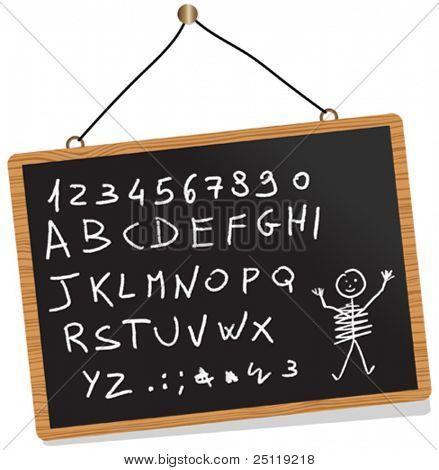 Vektor-Tafel. Du kannst hier schreiben was Sie wollen.
