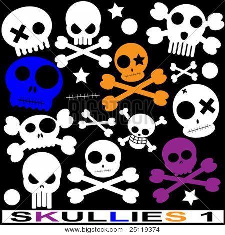 various vector skulls