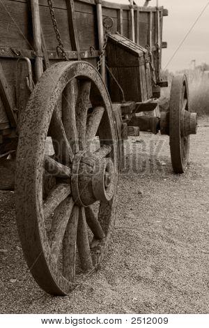 Wagon With Rain Sepia