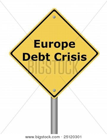 Warning Sign Europe Debt Crisis