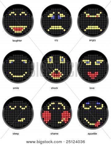 Conjunto de símbolos de vetor de sorrisos