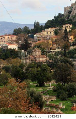 Athens, Greece -  Agora And Byzantine Church