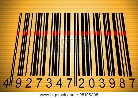 barcode scanned by barcode reader