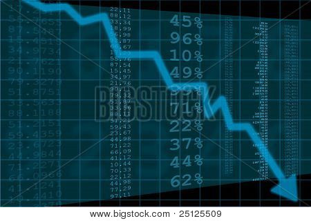 illustration of stock price going down