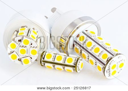 Two Led Bulbs G9 And One Led Bulb G4