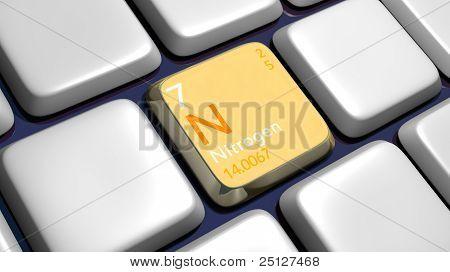Keyboard (detail) With Nitrogen Element