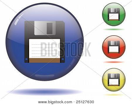 Glossy save button set
