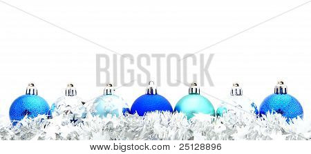 Blue Christmas Bauble Grenze