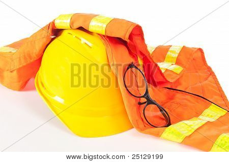 Hard Hat And Safety Vest