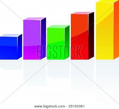 Vector Color Diagram With A Shadow
